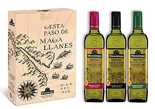 OLEOESTEPA - Estuche Conmemorativo Gesta Primer Paso de Magallanes - 3 Botellas de 750 ml