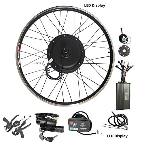 WENHU Kit de conversión 20-29 Pulgadas 700C Bicicleta eléctrica Kit de conversión 48V 1000W 1500W 36V 250W 500W Rueda Delantera del Motor del Eje Trasero,36V250WLCD3