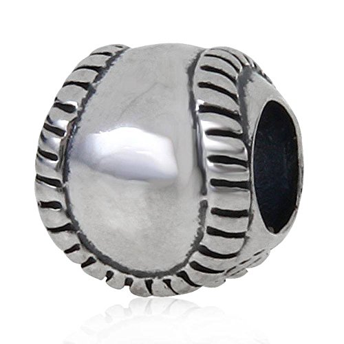 925Sterling-Silber, Charm-Armband mit Anhänger für Pandora-Armband Baseball A