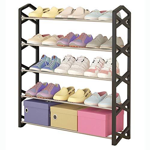 VBARV 5 Nivel Gratuito pie Bastidores del Zapato, Puerta de Entrada del Zapato del Organizador del almacenaje, Ahorra Espacio, fácil de Montar, Robusto y Elegante para los Zapatos Organizador