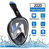 Innoo Tech Tauchmaske vollgesichtsmaske für Erwachsene und Kinder, Tauchermaske vollmaske mit schnorchel, 180° Anti-Fog Schnorchelmaske vollmaske, S/M