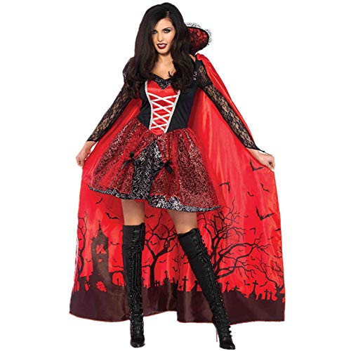 Disfraz De Vampiro De Halloween Vestido Maxi De Reina Cosplay De Reina Reina De Fantasmas Escarlata Disfraz De Zombie De Bruja De Gran Tamaño Rojo