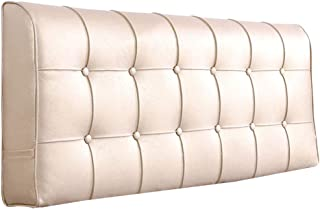 Barture-Kopfenden Tête De Lit Coussins Pack Souple De Chevet Grand Coussin Arrière (Color : Off-white, Size : 180x10x58cm)