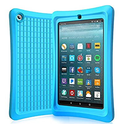 Benazcap Silicone Case Compatible with Newest 7 Inch 9th gen Tablet-Anti Slip Shockproof Lightweight Corner Protection Protective Case Cover for 7 Inch Tablet 2019(7 Inch Display),Cameo