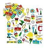 Baker Ross Autocollants outils en mousse (Lot de 120) - Matériel créatif pour enfants et adultes