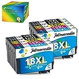 18XL Cartuchos de Tinta para Epson 18 18XL Multipack Compatible con Epson Expression Home XP-215 XP-322 XP-225 XP-302 XP-305 XP-312 XP-315 XP-405 XP-412 XP-422 XP-425