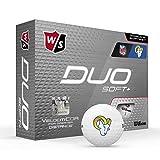 Wilson Duo Soft+ NFL Golf Balls (1 Dozen)-Los Angeles Rams,White