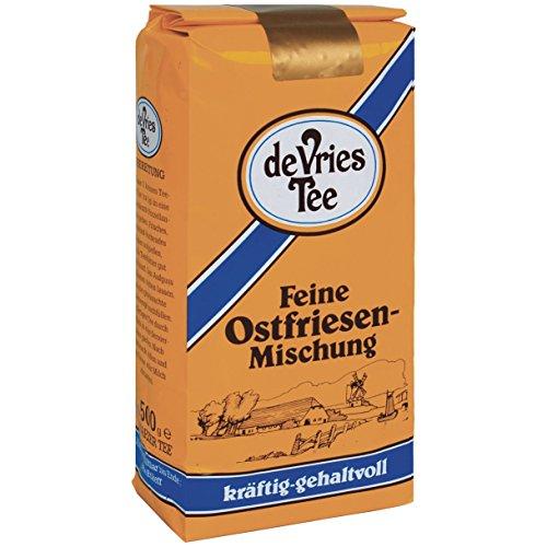 Bünting Tee de Vries Tee Feine Ostfriesen-Mischung, 500g loser Tee, 1er Pack