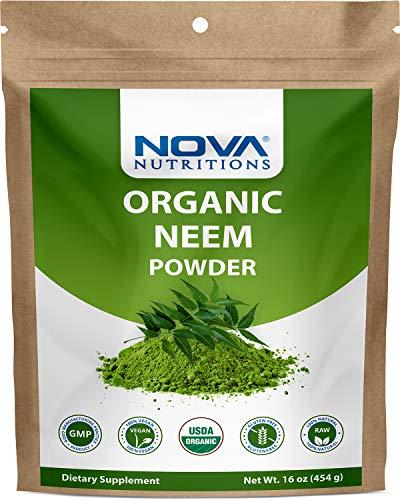 Nova Nutritions Certified Organic Neem Leaf Powder 16 OZ (454 gm) – Also Called Azadirachta Indica