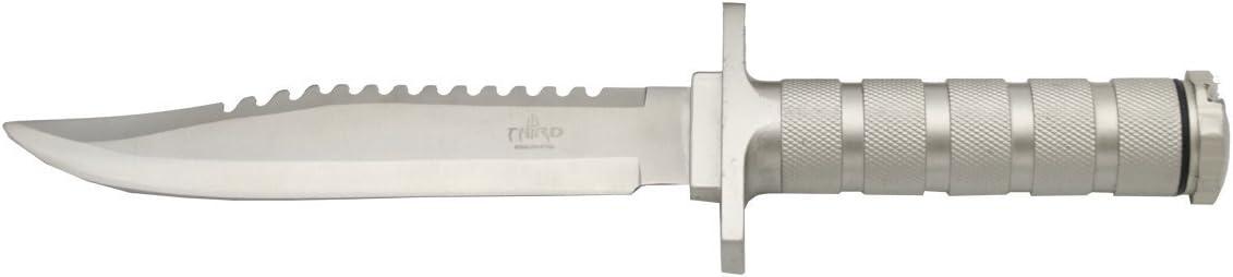 THIRD 086 Survival Knife with 17 Handle 超定番 未使用 Aluminum cm Blade Steel
