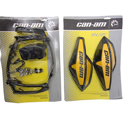 Can-Am ATV YELLOW Hand Guard/Wind Deflector Kit w/Mount Outlander,Renegade,DS