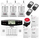 Fuers G2 Kit de Alarma de Hogar Inalámbrica GSM/PSTN Sistema Alarma Seguridad Antirrobo Control por SMS/LLAMADA, SOS de un Clic para Mayores/Niños