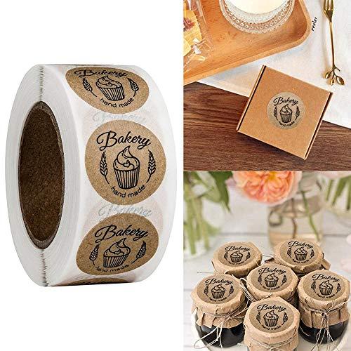 500 PCS Self-adhesive Sticker Handmade Baking Sticker Food Decorative Sticker Biscuit Bag Decorative Personality Label