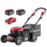 Powerworks XB 40V 21' Brushless Cordless Push Mower, Electric Self-Propelled Lawn Mower for Garden, with 4Ah Battery and Charger Included