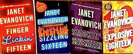 Janet Evanovich: Stephanie Plum Series (4 Book Set) -- Finger Lickin' Fifteen -- Sizzling Sixteen -- Smokin' Seventeen -- ...