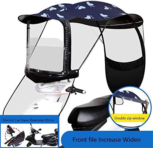 RZiioo Motorrad Baldachin Motorraddach Motor Fahrrad Sonnenblende Sonnenschirm Zelt Regenschirm Windschutzscheibe,A,Rear viewmirror