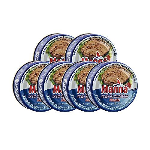 Manná Paté de Sardinha Picante - Scharfe Sardinenpastete aus Portuga, 6er Pack (6 x 65g)