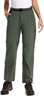 Women's Cargo Hiking Elastic Wasit Pants, Casual Outdoor Quick Dry Hiking Camping Fishing Stretch Trousers