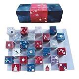 Lauensteiner Adventskalender Winter-Cubes310 g handgefertigte Weihnachtsleckereien, 13fach sortiert, mit und ohne Alkohol.Ideales Geschenk für Männer und Frauen, 1er Pack