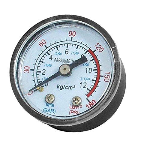 sourcingmap® 1/8BSP Air Kompressor Hydraulik Rückseite Halterung Manometer 0-180Psi de