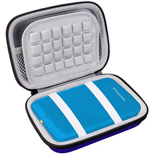Bolsa de viagem BOVKE para impressora móvel Polaroid Zip/Impressora fotográfica portátil HP Sprocket/Mini impressora fotográfica portátil portátil sem fio Canon Ivy Bluetooth, azul