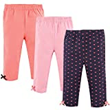 Hudson Baby Baby Cotton Pants and Leggings, Hearts, 3 Toddler