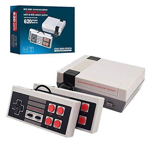teescube Plug & Play Classic Handheld Game Console,Classic Game Console Built-in 620 Game Handheld Game Console, Video Game Player Console for Family TV Video