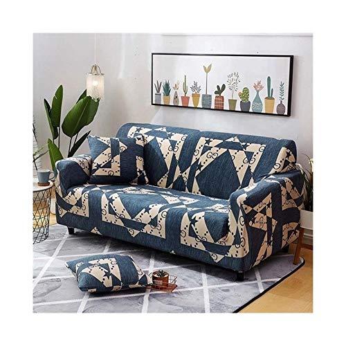 ZIJ Funda elástica para sofá con diseño de cruz para sofá de salón, funda de sofá y sofá (color: color 19, especificación: 4 plazas 235 300 cm)