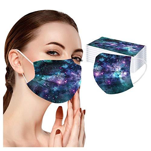 DEYUNSE 10/20/30/50PCS Mascarilla facial desechable para niños – Paño colorido para la cara – Cubierta protectora para la boca para niños y niñas