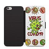 Hate the Virus Funny Virus 2020 Meme Phone Étui à rabat en cuir pour iPhone 11 Pro