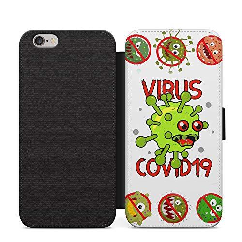 Hate the Virus Funny Virus 2020 Meme teléfono cubierta de cuero Flip caso para Samsung Galaxy A10s