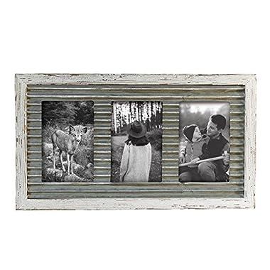 Foreside Home & Garden FFRD06114 4X6 Three Photo Logan Frame White