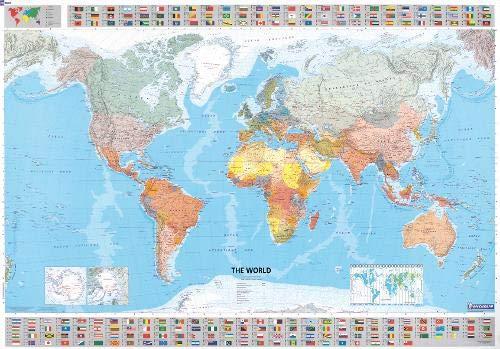 The World Planoposter (engl.); Auflage 2018: Mit Staatsflaggen (MICHELIN Planokarten)