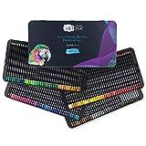 Artina lápices de colores para adultos Expertilo Set de 160 lápices profesionales - Juego XXL de lapices colores de madera FSC de alta pigmentación, irrompibles – para dibujo y pintura