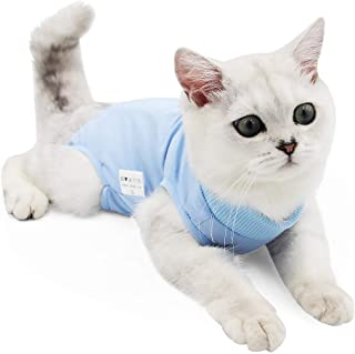 Cat Professional Recovery Suit for Abdominal Wounds or Skin Diseases, E-Collar Alternative for Cats and Dogs, After Surger...