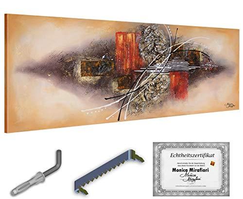 "Monica Mirafiori I Cuadro ""Shadow"" I 160 x 60 cm | XXL Lienzo pintado a mano | Pintura acrílica sobre lienzo | Gran cuadro acrílico sobre bastidor"