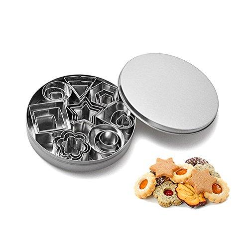 R 3 en 1 Moule a biscuits de forme de coeur en acier inoxydable SODIAL