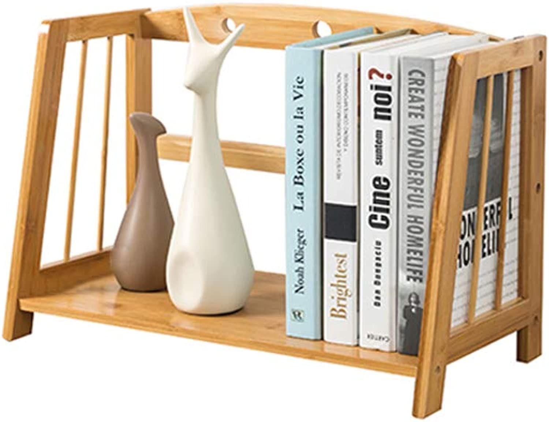 YAXIAO Solid Wood Bookshelf Magazine Book Storage Rack Student Desktop Display Bookcase Decoration Bookshelf (Size   43x22x28cm)