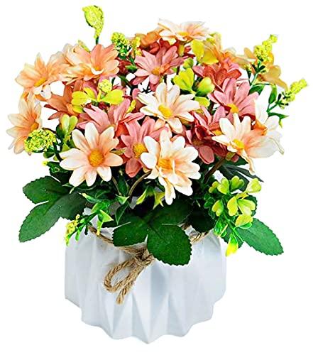 Hrbtag Crisantemo Artificial, Flor Artificial para Decoracion Flores Artificiales de Seda para Boda, Oficina en Casa, Fiesta,...