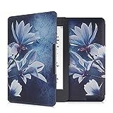 kwmobile Funda Compatible con Amazon Kindle Paperwhite - Carcasa para e-Reader de Piel sintética - Blanco/Gris/Azul