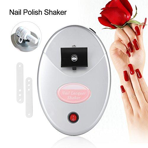 110-240V Elektrischer Nagellack-Shaker Gel Polnisch Nagellack Schüttelmaschine für Nagel-Schönheitssalon und Heimgebrauch, 18 * 12 * 3.5cm