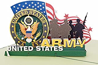 AITpop Father's Day Greeting Card - Soldiers of U.S. Army Retired Commemorative Crad - Birthday Card, Anniversary Card,Thank You Card,3D Pop Up Card