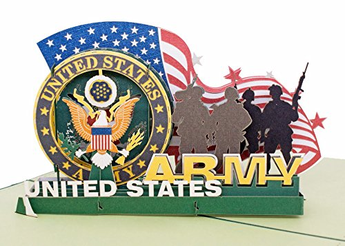 Thank You 3D Greeting Card - Soldiers of U.S. Retired Commemorative Crad...