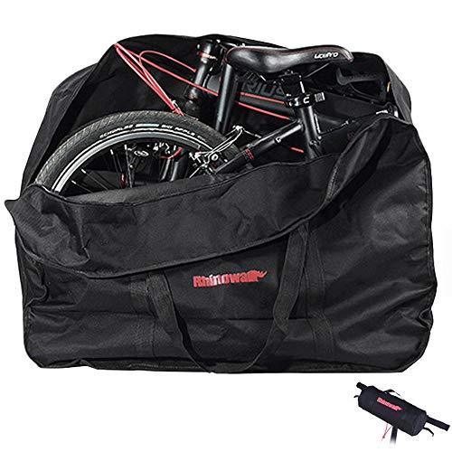GlobalCity 輪行袋 折りたたみ自転車 収納バッグ 20インチ 輪行バッグ 14インチ 〜 20インチ 収納ケース 付き (ブラック)