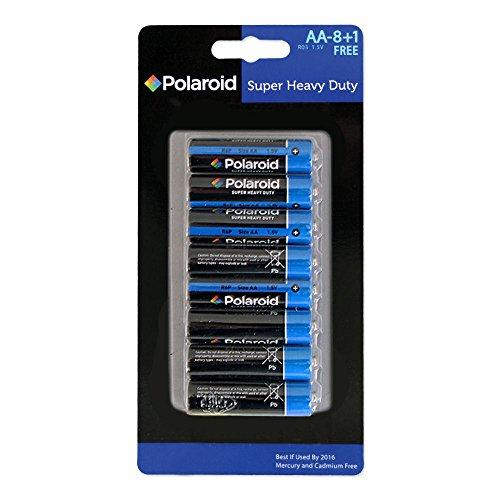 Weihnachten Shop AA Polaroid Heavy Duty Batterien (9Pack)-Standard-AA