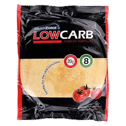 Low Carb Tortillas Kohlenhydratarm - Tomato, 8x2 Stück - Carbzone 2er Pack (2 x 320 g) - Keto