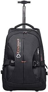 KTYXDE Travel Bag Backpack Travel Wear Rod Shoulder Bag One Pack Dual-use Waterproof Large Capacity Trolley Backpack (Color : Black, Size : 47x19x35cm)