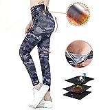 ROOTOK Mujer Pantalones Largos Deportivos de Camuflaje Leggings para Running, Yoga y Ejercicio (XL)