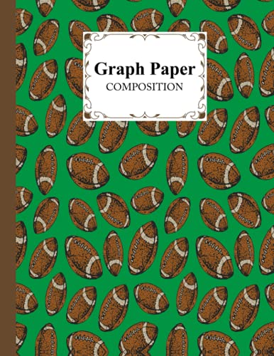 """Graph Paper Composition Notebook: Rugby Graph Paper Composition, Grid Paper Notebook, Quad Ruled, 100 Sheets, Size 8.5"""" x 11"""" by Susan Fanning"""
