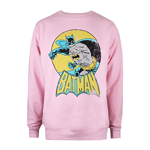 DC Comics Batman Retro Jersey, (Light Pink Ltpk), 38(Tamaño Fabricante: Small) para Mujer